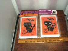"""2 - 50ct  Halloween Cute Black Cat Loot bags 4"""" x 6""""  Party Bags Trick or Treat"""