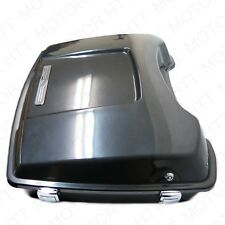 Unpainted Black For Harley Touring Tour Pak Pack Trunk w/ Lock 1997-2008