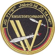 """Aufnäher Patch SFOR KFOR Einsatzgeschwader IV JG 71, JaBoG 32, JG 74""""M"""" ...A2573"""