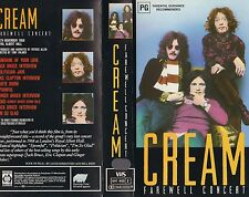 CREAM -FAREWELL CONCERT -Clapton, Baker & Bruce -VHS -PAL - NEW - Never played!!