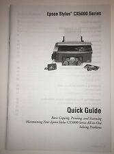 Epson CX5000 Manual Upper and Lower Paper Guides