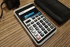 Casio AL-8S Taschenrechner mit grünen Leuchtzahlen alt aber funktioniert.Tasche