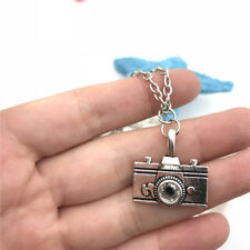 Large CAMERA Necklace Charms Jewelry Tibet silver Pendant Chain Necklace