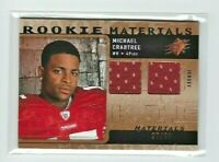 2009 SPx Michael Crabtree DUAL Jersey RC, Rookie Materials SP #/99, 49ers!