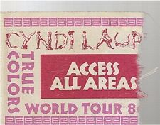 CYNDI LAUPER vintage used concert PASS true colors world tour 88 (incomplete)