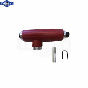 78-81 Regal Cutlass Console Shifter RED HANDLE Assy Button Ring Clip ALUMINUM