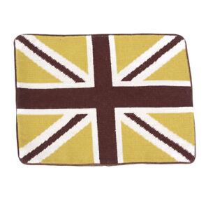 JONATHAN ADLER Needlepoint Pillow Case UNION JACK British Flag Queen Britain