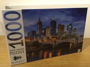 1000 Piece New Jigsaw Puzzle Melbourne Cityscape Australia Hinkler Mindboggler