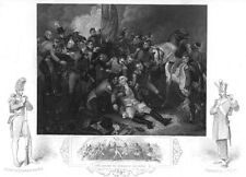 BATTLE OF ALEXANDRIA CANOPE  DEATH RALPH ABERCROMBY ~ 1853 Art Print Engraving
