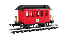 BACHMANN G SCALE 97089 Lil Big Hauler Short Line Railroad Red Passenger Car  NEW