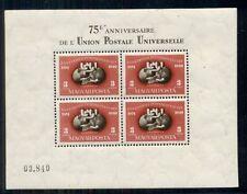 HUNGARY #C81, UPU Souvenir sheet of 4, og, NH, VF, Scott $525.00