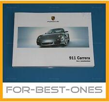 Manuale d'uso originale della Porsche 911 997 Carrera Manuali 2004-2008 Nuovo