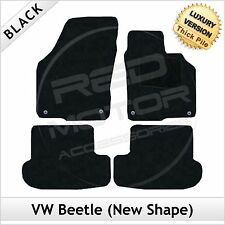 VW Beetle (New Shape) 2012 onwards Tailored LUXURY 1300g Carpet Car Mats BLACK