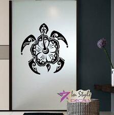 Vinyl Decal Sea Turtle Hawaiian Tribal Pattern Bathroom Bedroom Wall Sticker 933
