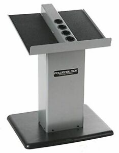 POWERBLOCK Huge Section Stand, Silver/Dark, Model:Large Segment Stand Silver
