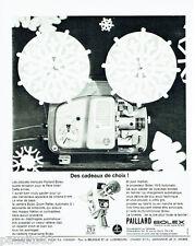 PUBLICITE ADVERTISING  026  1964  Paillard Bolex  caméra 18-5 automatic