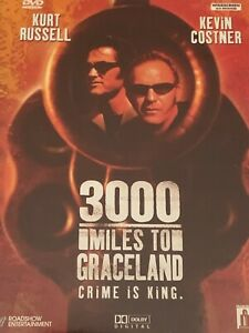 3000 Miles to Graceland Kurt Russell Kevin Costner DVD  Like New