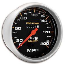 "AUTO METER 5156 PRO COMP SPEEDO 5"" MECH. 200 MPH"