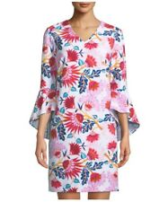 NWT Tahari by ASL Bell-Sleeve Floral Crepe Shift Dress Plus Size 20W, 22W ($138)