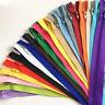 50pcs Colorful 3# Nylon Coil zipper Bulk nylon zippers Sewing Craft(7.5 CM-100CM