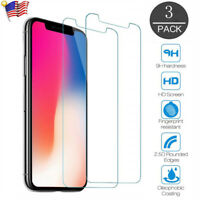 LOT iPhone 11 Pro X XR XS Max Premium Tempered Glass Screen Protector