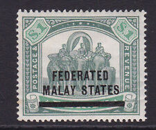 Federated Malay States. 1900. SG 11, $1 green & pale green. Mounted mint.