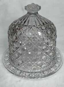 ULTRA RARE SPECTACULAR Antique Victorian Davidson Glass Cake/Cheese Dome