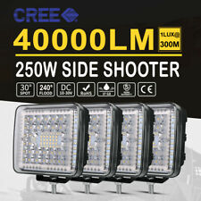 4x 4Inch Side Shooter LED Light Bar Spot Flood Work Pods Offroad Tractor 4WD 5''