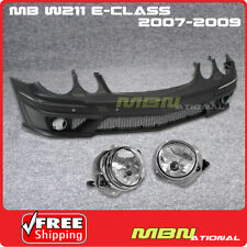 07-09 MB W211 E-Class AMG Style W/ PDC Sensor Spot Front Bumper Cover PP w Fog