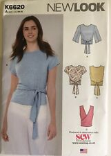 NewLook 6620 Back Tie Wrap Over Top Blouse Shirt EASY Ladies New Uncut Pattern