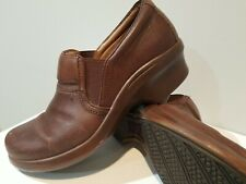 Ariat Women's Size 9.5 Brown Leather Slip On Clog Shoes Non-Slip