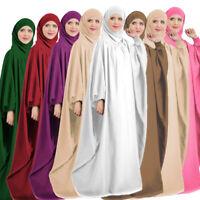 Ramadan Prayer Abaya Womens Robe Dress Muslim Kaftan Jilbab Islamic Clothes Arab