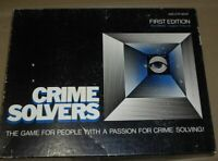 Vintage 1985 Crime Solvers First Edition Game