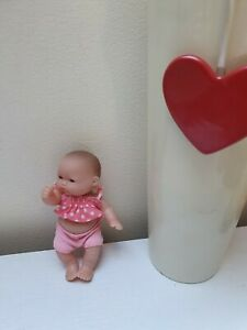 """JC  TOYS Cute Mini Baby Born Girl Doll Punk Outfit Approx 5"""" Tall"""