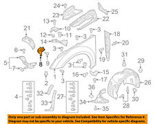 AUDI OEM 16-18 TT Quattro Fender-Front Bracket Right 8S0821432A