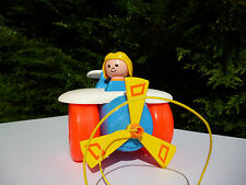 ♥ Jouet Avion Fisher Price Toys Vintage Année 1980 Made In U.S.A