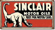 Sinclair Motor Oil Dino USA Tankstellen Vintage Design Metall Werbung Plakat