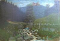 ::E. CHAPUIS DAT. 1851 °Wartburg Eisenach Ölgemälde Antik Thüringen Ölgemälde