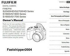 FujiFilm FINEPIX S2500 S2700HD S1800/S1900 S1600/S1700 DIGITAL CAMERA MANUAL CD