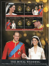 Papua New Guinea 2011 MNH Royal Wedding 4v M/S Prince William Kate Middleton