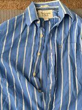 Men's Abercrombie & Fitch Stripes Oxford Dress Button Up Shirt Muscle Medium M
