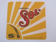 Beer Pub Coaster <> Cerveza SOL Cervezas Mexicanas ~ Monterrey, MEXICO; Est 1899