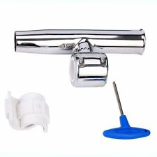 """Stainless Clamp on Adjustable Fishing Rod Holder for Rails 1-1/2"""" to 1-3/4'' efp"""