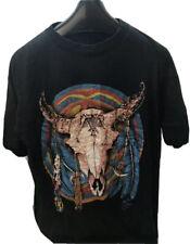 VTG RetroGraphic T-shirt Size M/L Navajo Skull Rare Biker Northwest All Over
