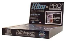 (50) Ultra Pro PLATINUM 4 POCKET 3 1/2 x 5 1/4 Photo Postcard Card Album Pages