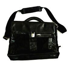 Piquadro Black Leather Mens Cross Body Messenger Bag Business