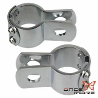 "Motorcycle Highway Crash Bar Mount Foot Peg Clamp For Harley 1 1/4"" Engine Guard"