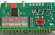Zähler electronic Counter red Revox B77 ohne Nullunterdrückung rot 7,6mm 7,62 mm