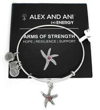 Alex & Ani Arms of Strength Starfish Breast Cancer Bracelet Silver Cbd13ggrs