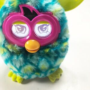 Hasbro Furby Boom Peacock Teal Blue Green Electronic Interactive Fully Tested